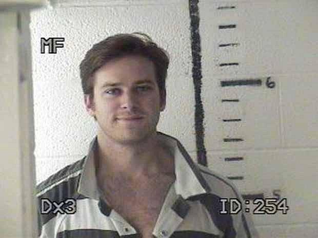 Armie Hammer - foto ze zatčení