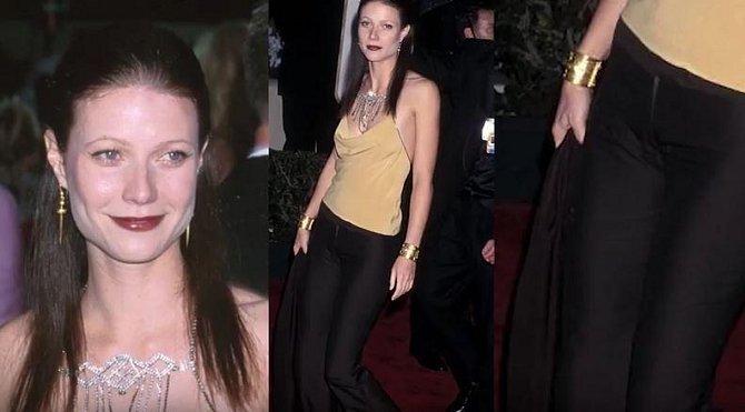 Gwyneth Paltrow v roce 2000 zvolila opravdu zvláštní outfit na událost, na kterou jiné dámy nosí velkou večerní…