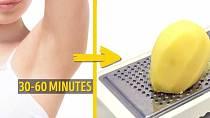 Světlou kůži v podpaždí můžete mít po bramborové kúře. Stačí nastrouhat bramboru na drobno, nanést do podpaždí a nechat klidně i hodinu působit.