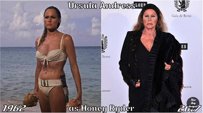 Herečka Ursula Andress coby Honey Ryder