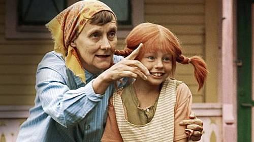Astrid Lindgrenová během natáčení Pipi dlouhé punčochy