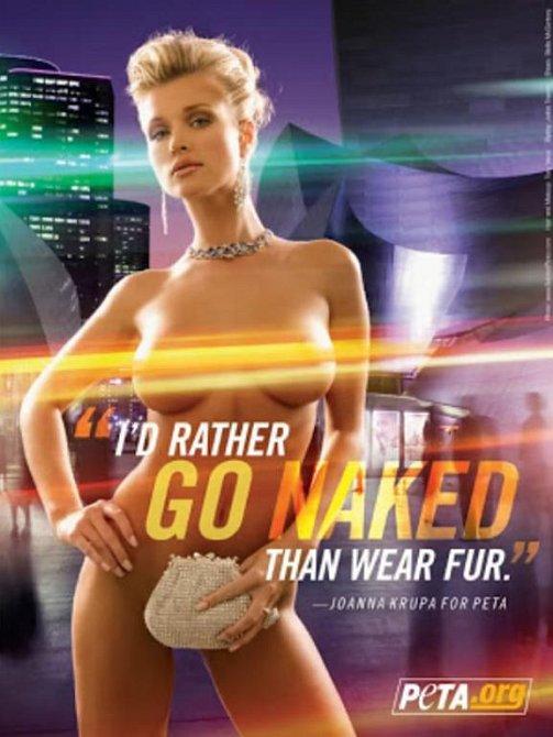 Tito slavní se svlékli pro organizaci PETA - Joanna Krupa