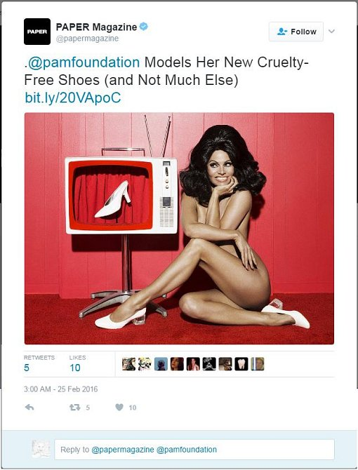 Pamela Anderson - Twitter - 25. 2. 2016