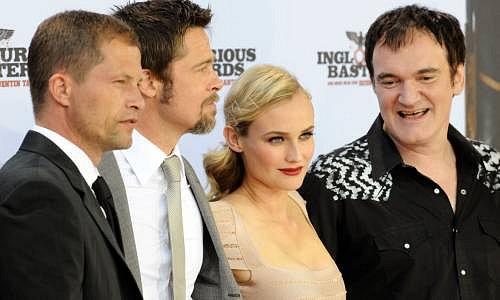 Til Schweiger, Brad Pitt, Diane Kruger, Quentin Tarantino