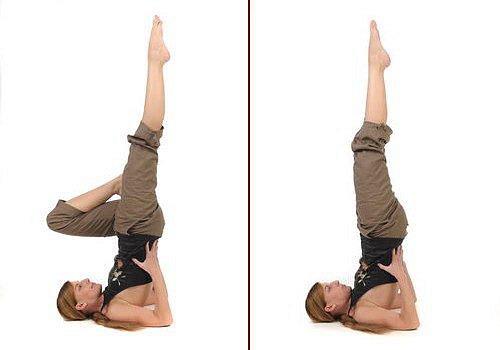 Cvičení, protažení, pozice, svíčka