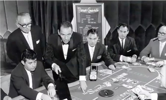Frank Sinatra v casinu, v Las Vegas