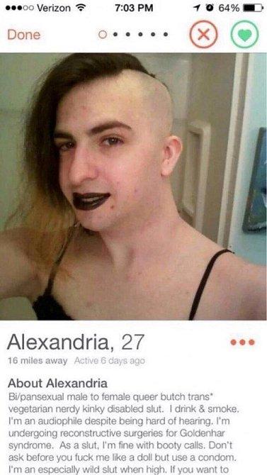 Seznámit se chtějí i kluci, holky, prostě Alexandria.