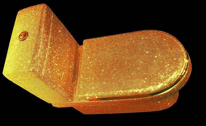 Toaleta - 85 000 dolarů: Asi by nikoho nenapadlo dávat pod stromeček záchod, ovšem tento zlatem potažený kousek by asi nevadil.