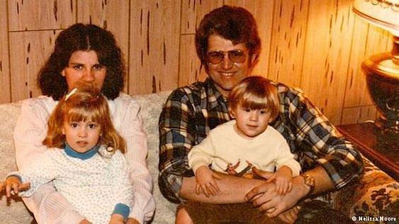 Keith Jesperson s dětmi a manželkou.