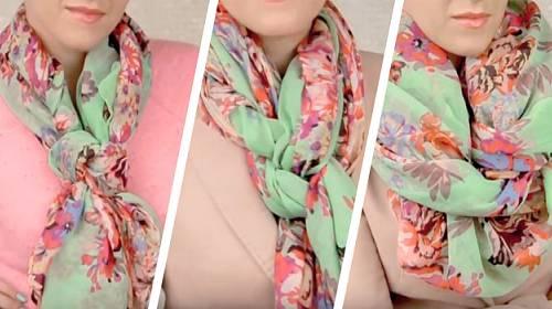 6 postupů krok za krokem, jak krásně uvázat šátek
