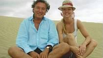 Karel Gott s dcerou na Kanárských ostrovech
