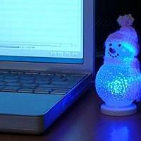 Svítící sněhulák
