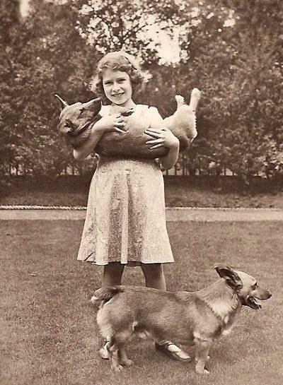 Královna Alžběta II. a její milovaní psi.