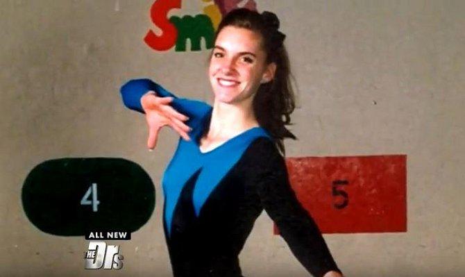 Nebyla nejlepší gymnastkou, ale rozhodně si zasloužila uznání za množství vynaloženého úsilí.