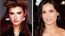 Demi Moore se zase tolik nezměnila, jen ty vlasy se jí naštěstí srovnaly.