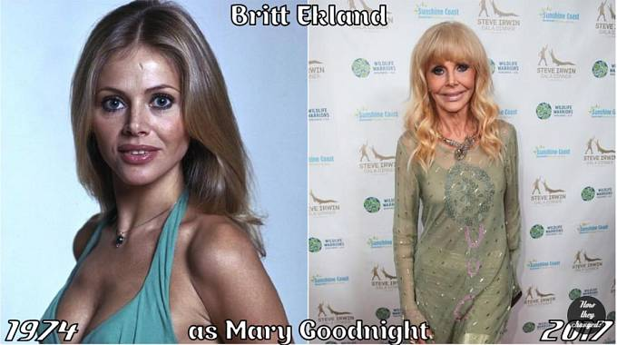 Herečka Britt Ekland coby Mary Goodnight