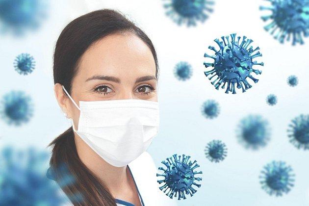Koronavirus a nošení roušek.