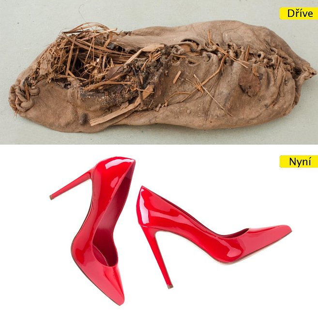 Boty - ty nejstarší dochované jsou vyrobeny z kravské kůže, ty nejmodernější skoro neumožňují běžnou chůzi
