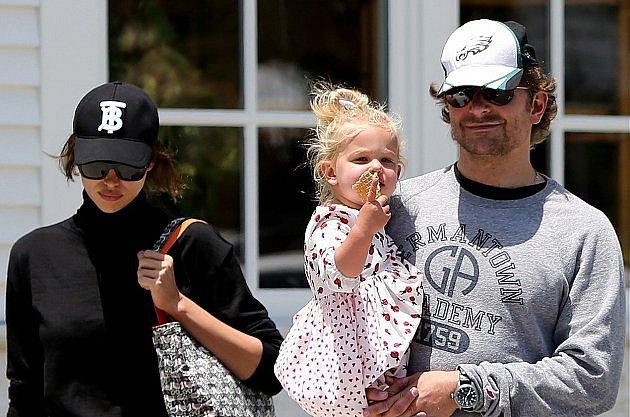Bradley s dcerou a bývalou partnerkou