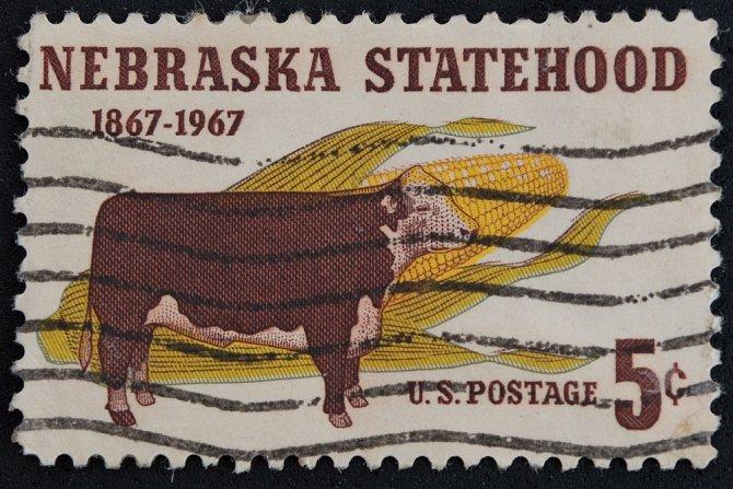 19. století a kukuřice na poštovních známkách.