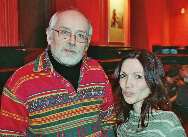 Bohdan Mikolášek, český písničkář (na fotografiei s Ivetou Duškovou)