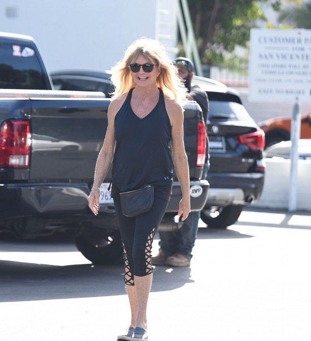 Goldie Hawn je na pohybu téměř závislá.