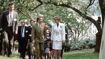 Zahrady kolem Bertramky navštívila i princezna Diana.