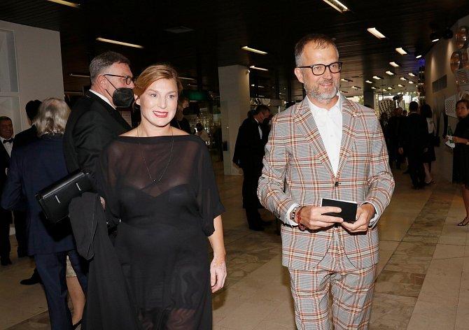 Lenka Krobotová a nový partner Vlado Bohdan, který je synem herečky Blanky Bohdanové.