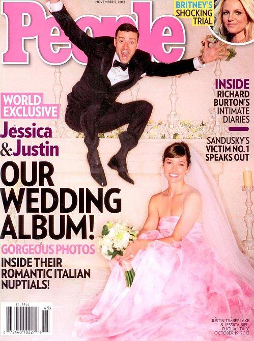 Svatba Justina Timberlakea a Jessicy Biel v roce 2012. Není té růžové trochu moc?
