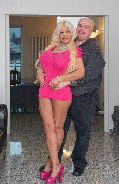 Martina se svým partnerem.