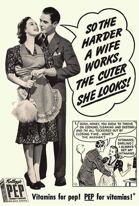 Čím těžší práci manželka má, tím roztomileji vypadá!