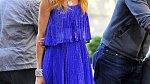 Modrou barvu nosí herečka velice ráda.
