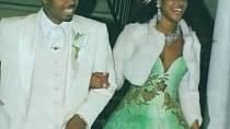 Kelis si na sebe ve svatební den vzala hodně netradiční zelené šaty. Brala si rappera Nase v roce 2005.