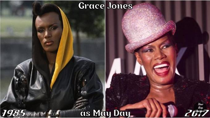 Herečka Grace Jones coby May Day