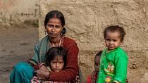 Ilustrační foto - Žena a děti v Indii