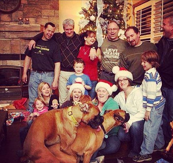 I tahle se dá zpestřit společné vánoční foto.