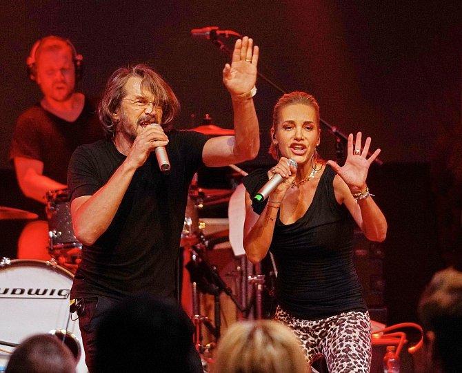 Na koncertě s Danem Bártou.