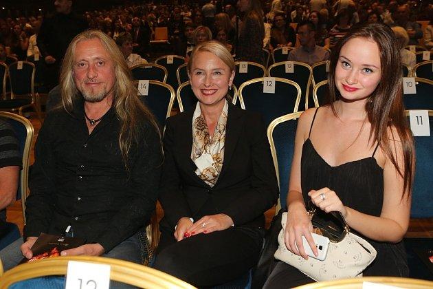 Kamil Střihavka s manželkou Evou a jejich dcera Tereza