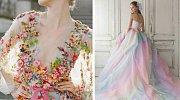 Svatební šaty v barvách duhy jsou překrásné!
