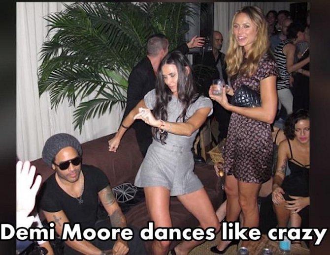 Demi Moore si hodně podivně zatančila na jedné party