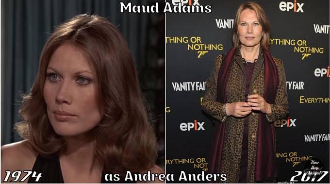 Herečka Maud Adams coby Andrea Anders