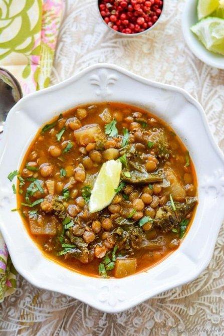 Tuřínová polévka s fazolemi