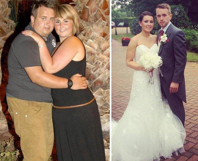 Tihle dva se rozhodli, že zhubnou do své svatby. Podařilo se!