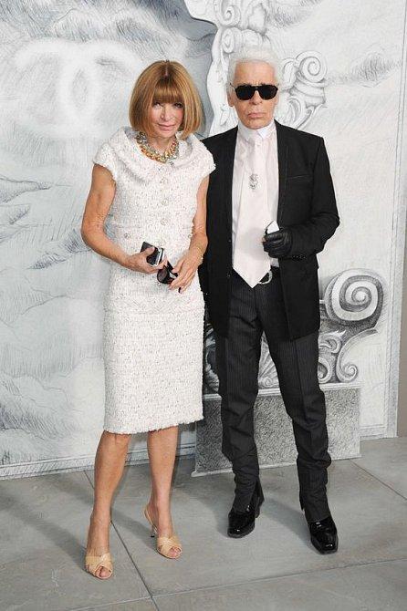 Anna Wintour měla velmi blízký vztah s nedávno zesnulým Karlem Lagerfeldem.