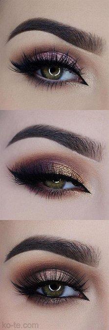 Zeleným očím sluší růžové až fialkové odstíny.