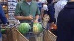I na nákupech se můžete pobavit nad dvěma melouny a okurkou.