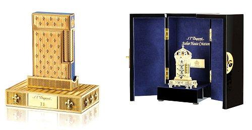 Zapalovač a psací potřeby hodné krále navrhla francouzská princezna Tania Bourbon Parme. Foto: © Tania de Bourbon Parme