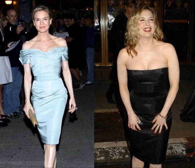 Renée Zellweger se změnila pro roli Bridget Jonesové ve filmech Deník Bridget Jones, Bridget Jones - S rozumem v koncích a Dítě Bridget Jones