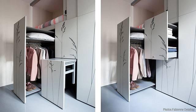 Malý prostor je vyřešen výsuvnými systémy.