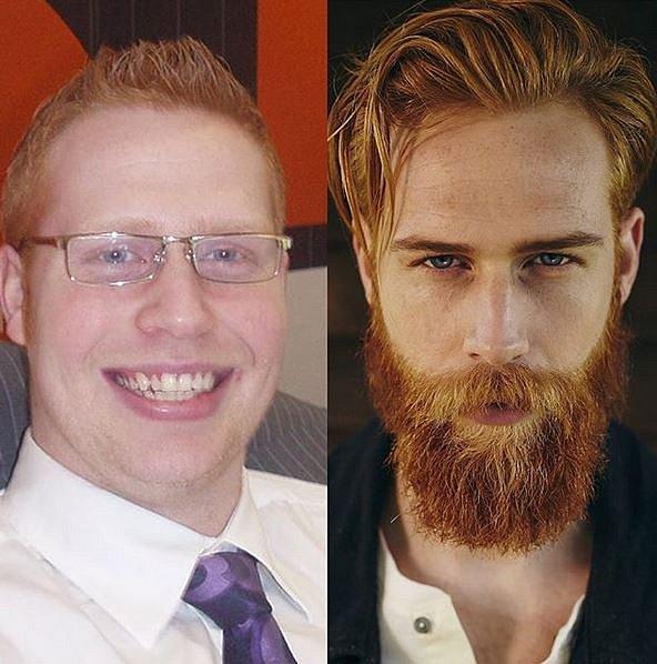Gwilym Pugh před a po. Neuvěřitelné, že?
